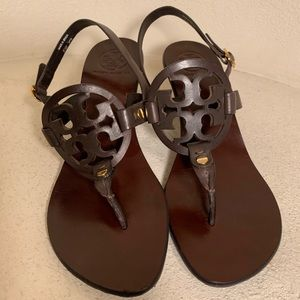 Tory Burch Holly Brown Sandals with heels Sz 6 1/2
